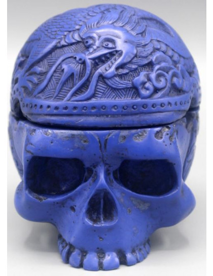 Incensário de Caveira Azul