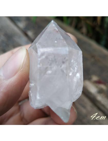 Ponta de Quartzo Cristal Natural 4cm
