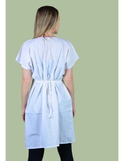 Vestido Bordado Oaxaca Branco-Médio 3