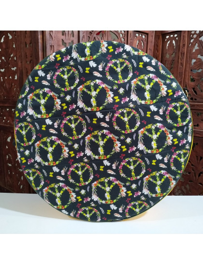 Bolsa Para Tambor Hippie Flores 40cm