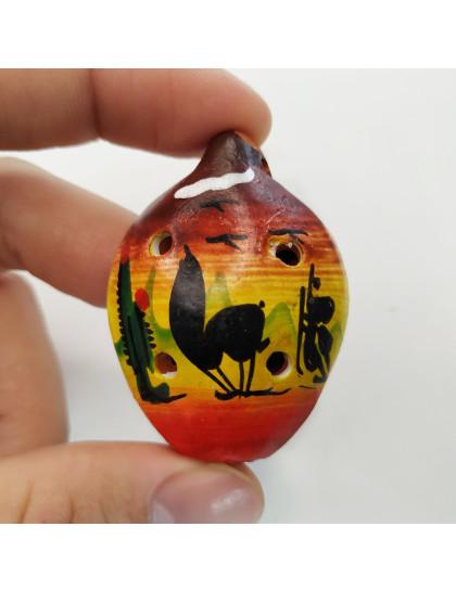 Ocarina 5cm Vermelha