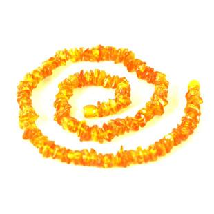 Colar de Âmbar Cascalho Amarelo